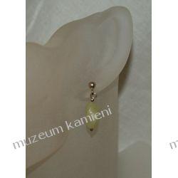 Jadeitowe kolczyki w srebrze KWK018 Na rękę