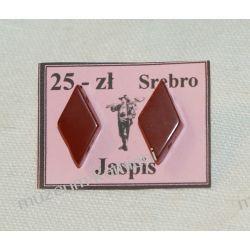Kolczyki z czerwonego jaspisu KWK034 Na rękę