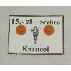 Kolczyki z karneolu w srebrze KWK026 Wisiorki