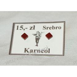Kolczyki z karneolu w srebrze KWK009 Kolczyki