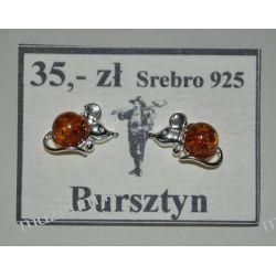 Urocze myszki - srebrne kolczyki z bursztynu KWK078 Wisiorki