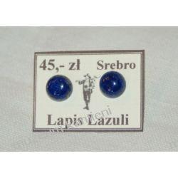 Kolczyki z lapis lazuli w srebrze KWK002 Wisiorki