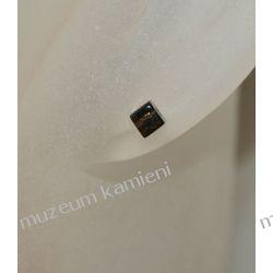 Kwarc dymny - kolczyki kosteczki w srebrze KWK033 Kolczyki