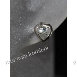 Serduszka kolczyki w srebrze KWK063 - cyrkonia Kolczyki