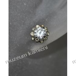 Piękne kolczyki w srebrze KWK096 - cyrkonia Kolczyki
