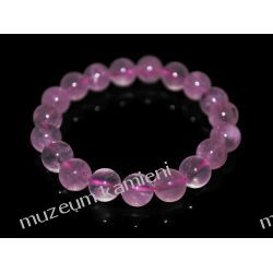 Bransoletka z kwarcu różowego na gumce BB21