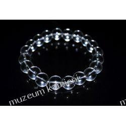 Kryształ górski - bransoleta na gumce BB29
