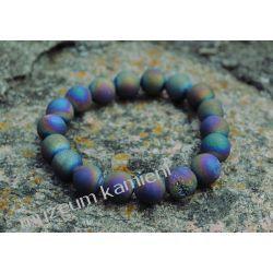 Kwarc tytanowy - bransoletka na gumce BB27 skamieliny