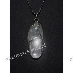 Piękny wisior z kryształu górskiego w srebrze WA024 minerały
