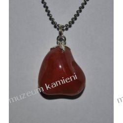 Piękny wisior z karneolu w srebrze WA042 Biżuteria i Zegarki