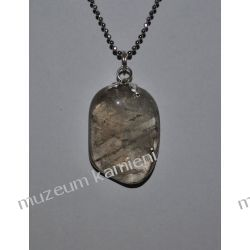 Piękny wisior z kwarcu dymnego w srebrze WA083 Biżuteria i Zegarki