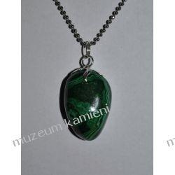 Malachit wisior w srebrze WA073 Biżuteria i Zegarki