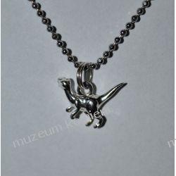 Wspaniały srebrny wisior w kształcie dinozaura WA117 Biżuteria i Zegarki