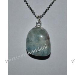Akwamaryn - piękny wisior w srebrze WA122 Biżuteria i Zegarki