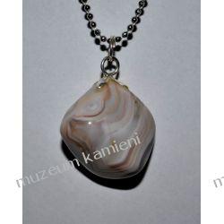 Piękny wisior z agatu w srebrze WA170 Biżuteria i Zegarki