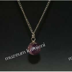 Fluoryt kulka - wisior w srebrze WA046F Biżuteria i Zegarki
