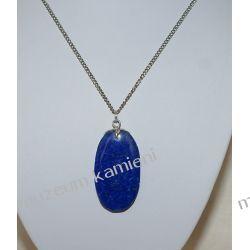 Wisior z lapis lazuli w srebrze WA015 Biżuteria i Zegarki
