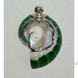 Wyjątkowy wisior z masy perłowej w srebrze WA029 Biżuteria i Zegarki