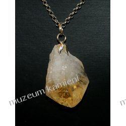 Piękny wisior z kryształu cytrynu w srebrze WA133