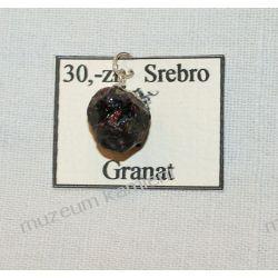 Wisior z granatu w srebrze WA089 Biżuteria i Zegarki