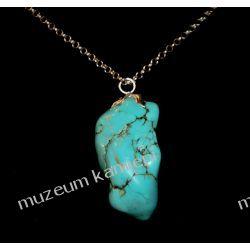 Piękny wisior z turkmenitu w srebrze WATU02 Biżuteria i Zegarki