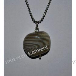 Wisior z krzemienia pasiastego w srebrze WA054 Biżuteria i Zegarki