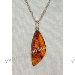 Piękny bursztyn w srebrze - zawieszka BUR02 Biżuteria i Zegarki