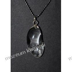 Piękny wisior z kryształu górskiego w srebrze WA176 Rzeźba