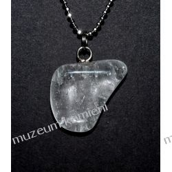 Piękny wisior z kryształu górskiego w srebrze WA148 Biżuteria i Zegarki