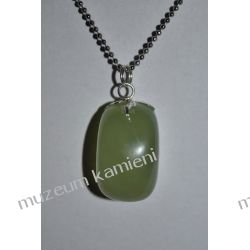 Jadeit - piękny wisior w srebrze WA027 minerały
