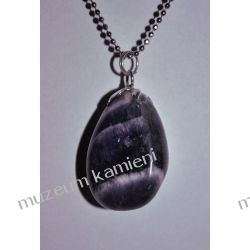 Piękny wisior z ametystu w srebrze WA134 Biżuteria i Zegarki