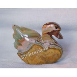 Łabędź z onyksu marmurowego - piękny 0F01 Antyki i Sztuka