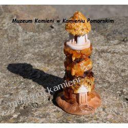 Ceramiczna latarnia z bursztynkami FBUR01 Kolczyki