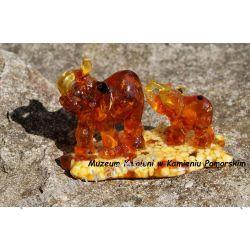 Dwa słonie z bursztynkami FBUR08 Figurki i rzeźby