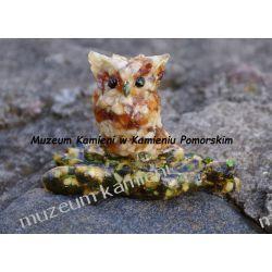 Sowa z bursztynu FBUR10 minerały