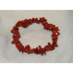 Bransoletka jaspis czerwony BBS03 Biżuteria i Zegarki