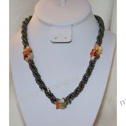 Naszyjnik z hematytu i innych kamieni NB005 Biżuteria i Zegarki
