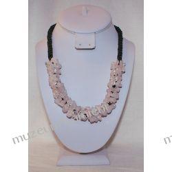 Naszyjnik z kwarcu różowego NS009 Biżuteria i Zegarki