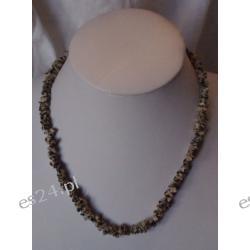 Naszyjnik z jaspisu dalmatyńczyka NS022 Kolczyki
