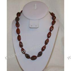 Naszyjnik z jaspisu NB003 Biżuteria i Zegarki