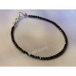 Spinel - przepiękna bransoletka w srebrze B07 - długość 19 cm Biżuteria i Zegarki