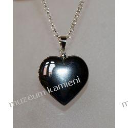 Hematyt - uroczy wisior w kształcie serca WSER06 Biżuteria dla Pań