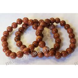 Piękna bransoleta z piasku pustyni na gumce BB23 Naszyjniki