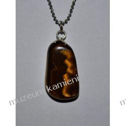 Wyjątkowy wisior z tygrysiego oka w srebrze WA125 Biżuteria dla Pań