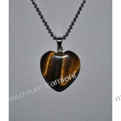 Serduszko - wisior z tygrysiego oka W081 Biżuteria dla Pań