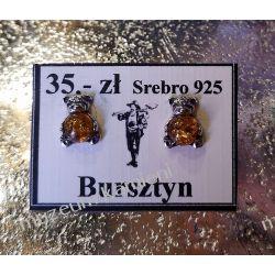 Kolczyki z bursztynu misie KWK073 Ze srebra