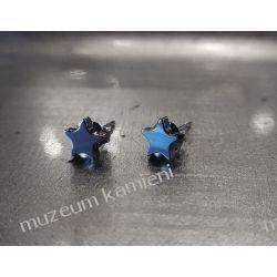 Gwiazdki z hematytu - śliczne kolczyki w srebrze KWK099 Kolczyki
