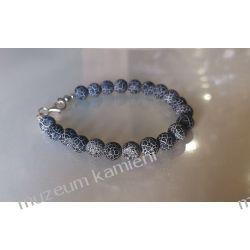 Piękny Onyks bransoleta w srebrze B85  Biżuteria i Zegarki