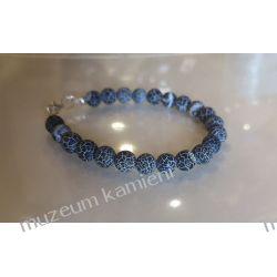 Onyks - piękna bransoleta w srebrze B83  Biżuteria i Zegarki