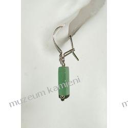 Kolczyki z awenturynu w srebrze KW020 Biżuteria i Zegarki